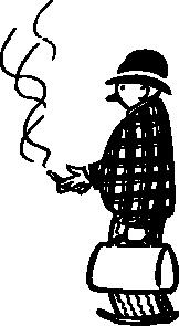 free vector Funny Little Cigar Smoker clip art