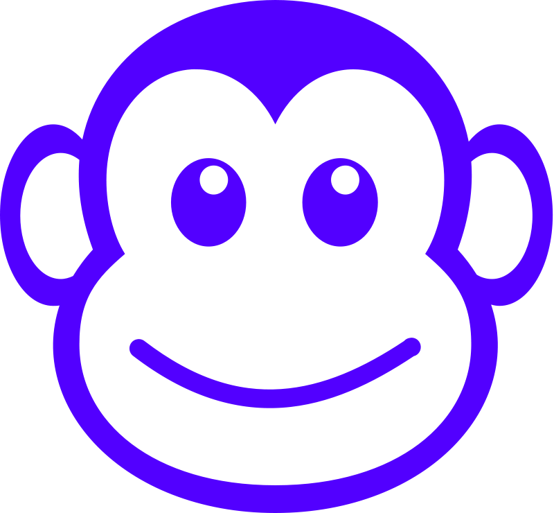 free vector Funny monkey face simple path