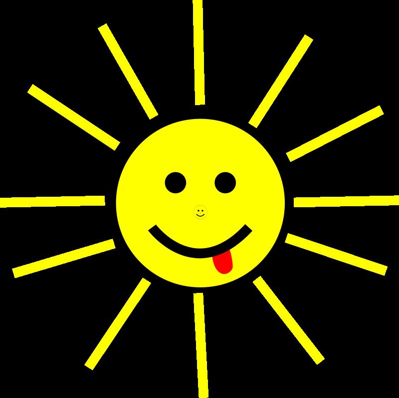 free vector Funny Sun Face Cartoon