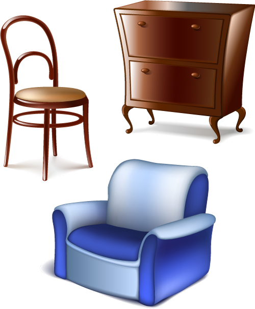 free vector Furniture 01 vector