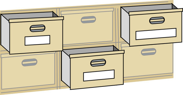 furniture file cabinet drawers clip art free vector 4vector