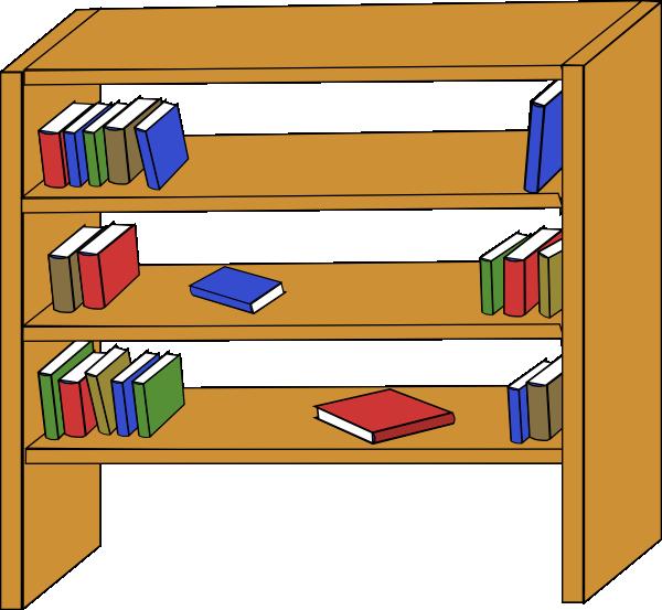 free vector Furniture Library Shelves Books clip art