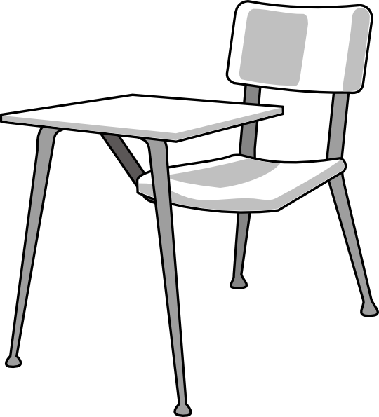 furniture school desk clip art free vector 4vector rh 4vector com