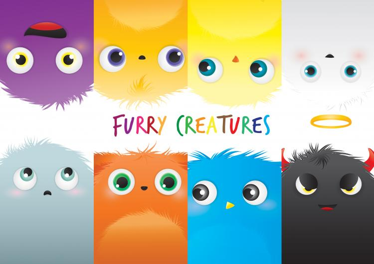 free vector Furry Creatures
