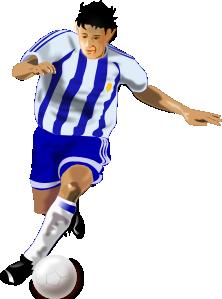 free vector Futbolista Soccer Player clip art