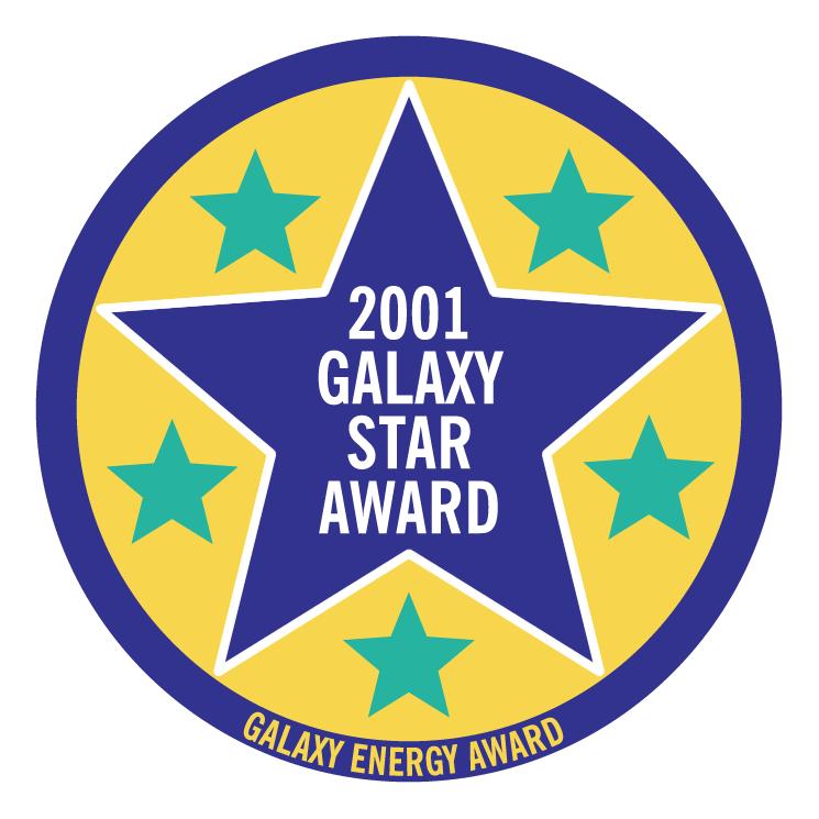 free vector Galaxy star award 2001