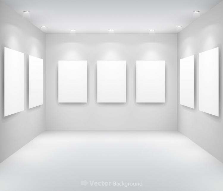 photoshop room templates - gallery display background 13 vector free vector 4vector