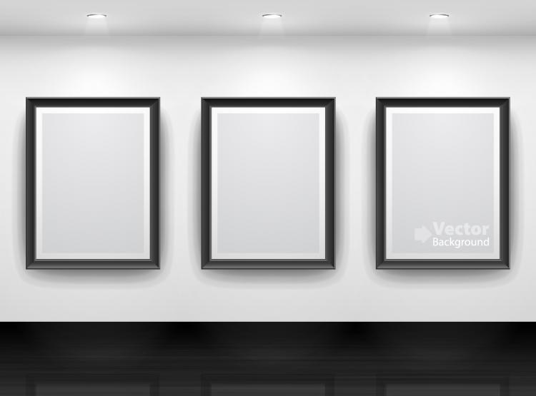 free vector Gallery display background 15 vector