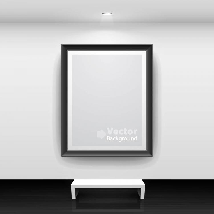free vector Gallery show background 08 vector