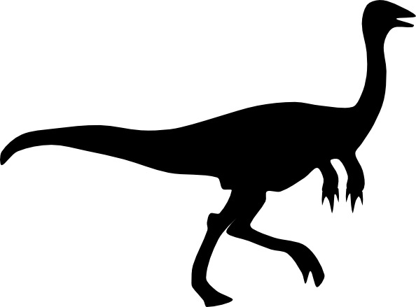free vector Gallimimus Shadow clip art