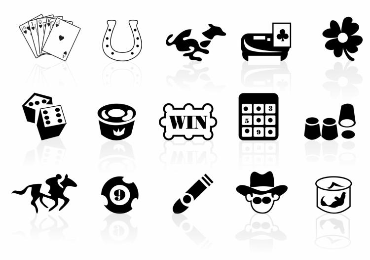 free vector Gambling icons