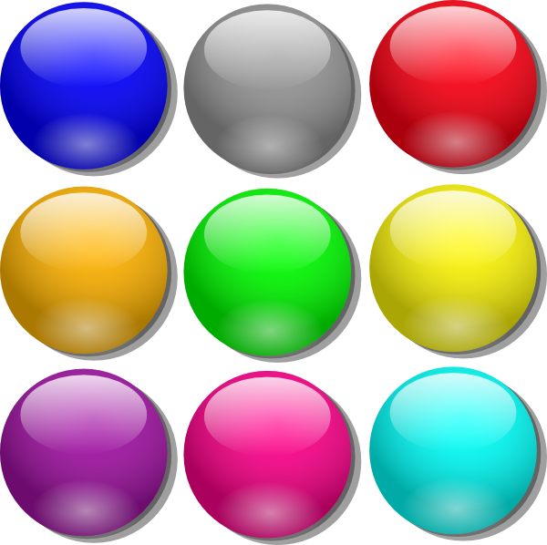 free vector Game Marbles clip art