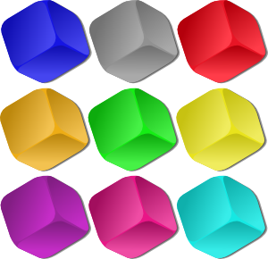free vector Game Marbles Cubes clip art
