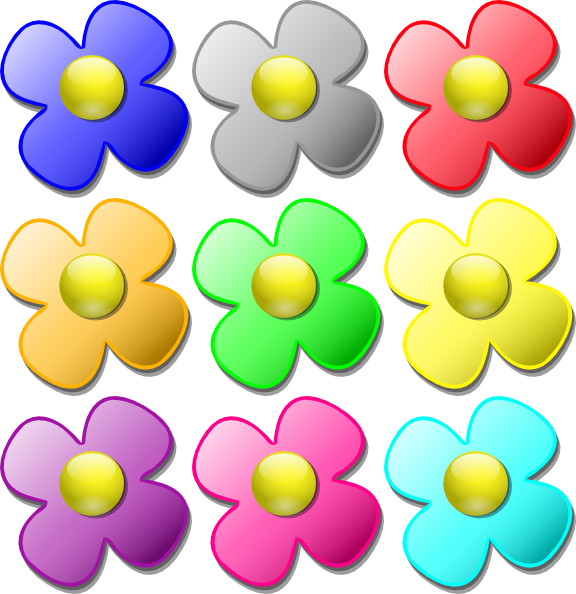 free vector Game Marbles Flowers clip art