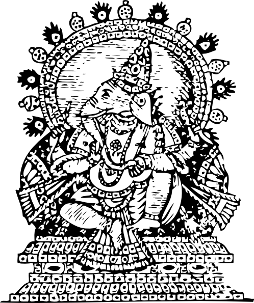 free vector Ganesha God Of Success clip art