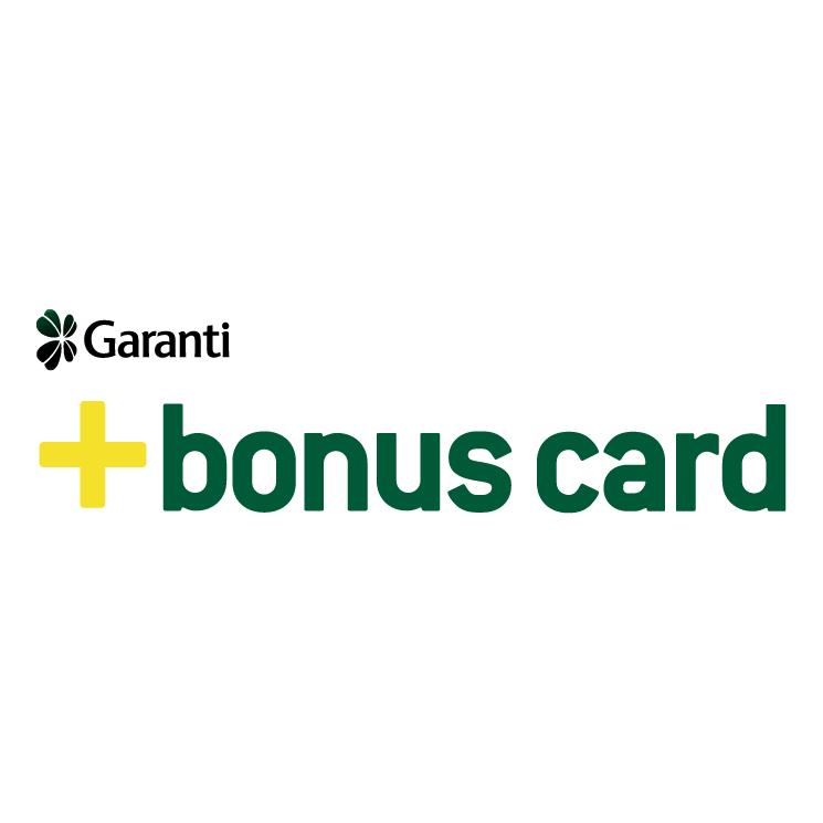 free vector Garanti bonus card