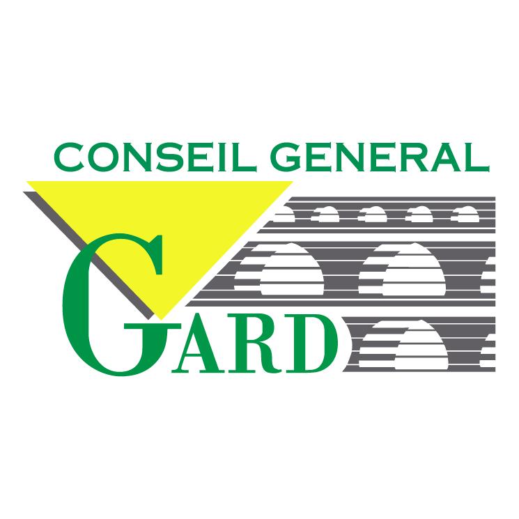 free vector Gard conseil general