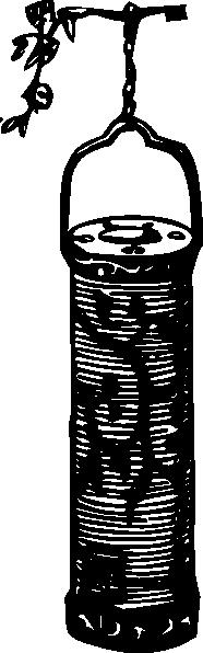 free vector Garden Antique Hanging Lantern clip art