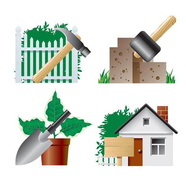 free vector Garden theme icon vector