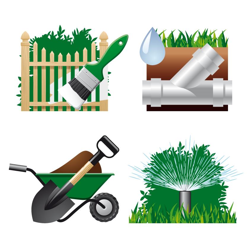 free vector Gardening theme 04 vector