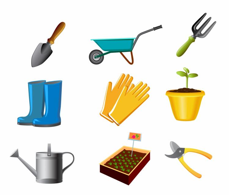 Gardening tool free vector 4vector for Gardening tools vector