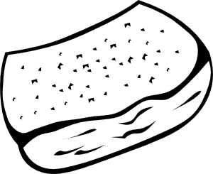 free vector Garlic Toast (b And W) clip art