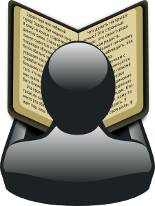 free vector Gartus Man With Book clip art