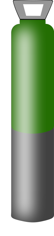 free vector Gas cylinder grey and dark green, high pressure for Argon