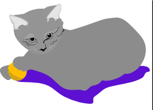 free vector Gattina Cat clip art