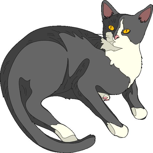 gatto cat clip art free vector 4vector rh 4vector com vector caterpillar logo vector cat paw