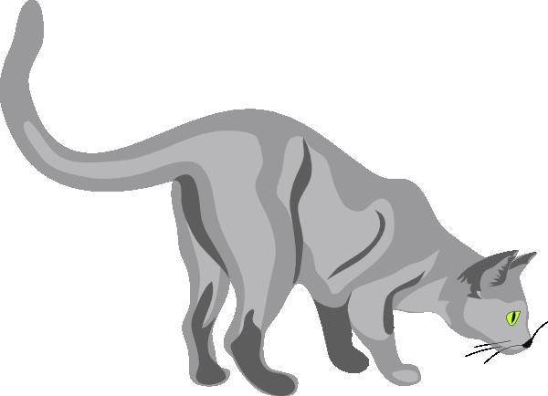 Gatto cat clip art free vector 4vector for Gatto clipart