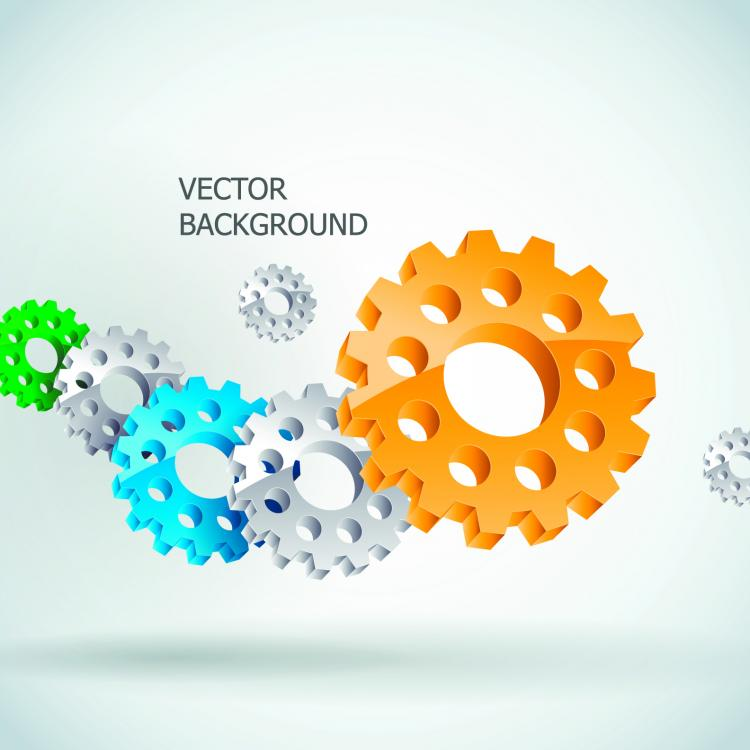 free vector Gear chains vector