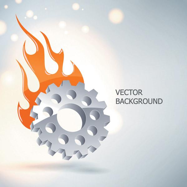 free vector Gear theme vector