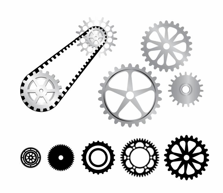 free vector Gearwheels