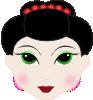 free vector Geisha Girl Anime clip art