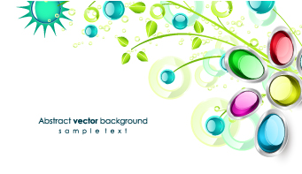 free vector Gem flowers vector