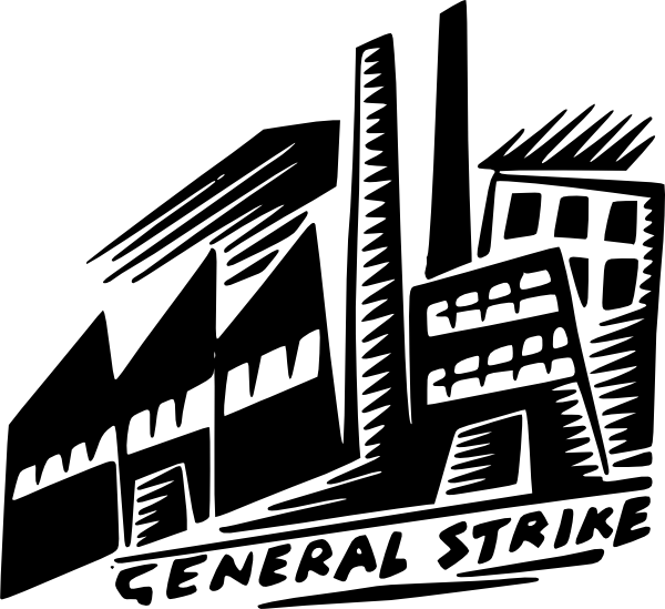free vector General Strike clip art