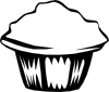 free vector Generic Muffin (b And W) clip art