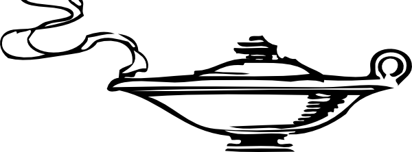 ... Free Vector Genie In The Lamp Clip Art