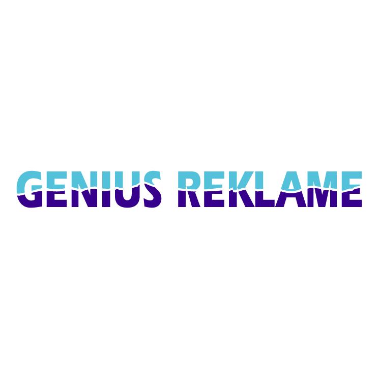 free vector Genius reklame