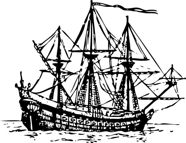 free vector Genoese Carrack clip art