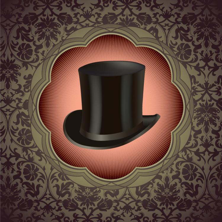 free vector Gentleman hat background 01 vector