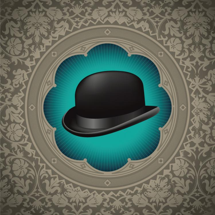 free vector Gentleman hat background 02 vector