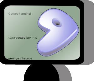 free vector Gentoo Terminal Icon clip art