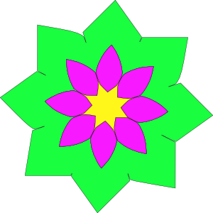 free vector Geometric Flower Shape clip art