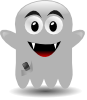 free vector Ghost With A Cellephone clip art