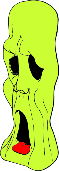 free vector Ghoul Head clip art
