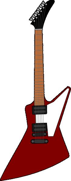 free vector Gibson Explorer Guitar clip art
