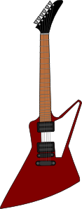 free vector Gibson Explorer Guitar clip art