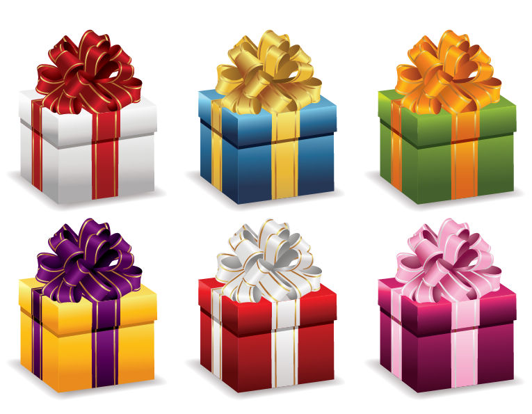 free vector Gift Boxes with Ribbon Vector Illustration